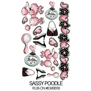 Decalque Sassy Poodle