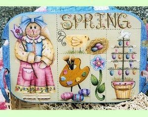 Projeto Basket Full of Spring by Kim Hogue