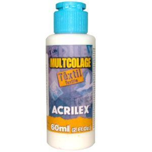 Cola para Decoupage Multicolage Têxtil  60 ml