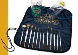Kit Royal Golden com 12 pincéis.